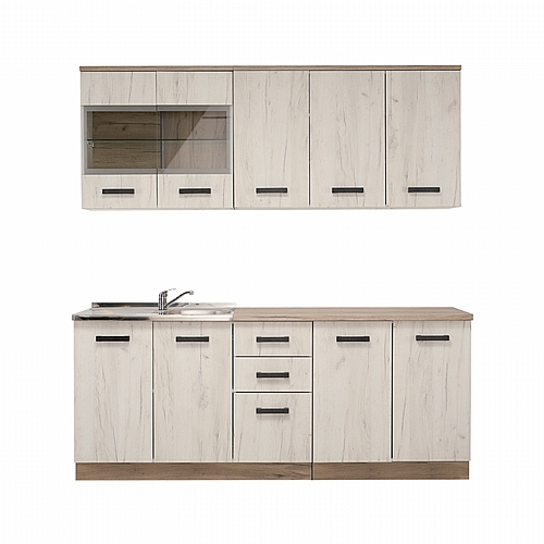 ΚΟΥΖΙΝΑ Kent 200 Grey Oak-White Oak 200*60/31*217(82/74.5)